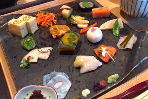 かまだ茶寮円山で手織り寿司を食べてみた